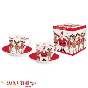 Набор кофейных пар SANTA&FRENDS