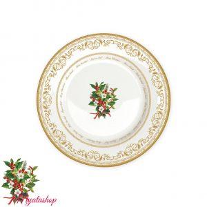 Тарелка обеденная Christmas holly