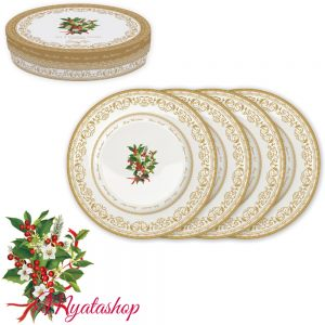 Набор десертных тарелок  Christmas holly