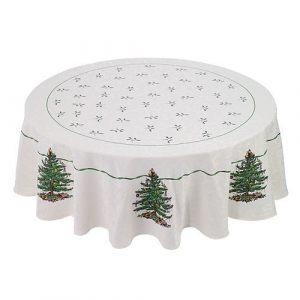 Скатерть круглая Christmas tree