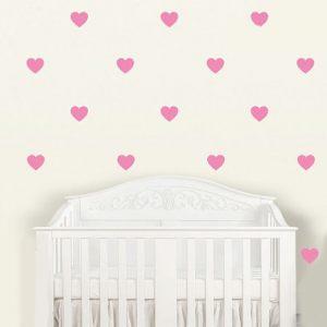 Стикеры на стену в виде сердечек