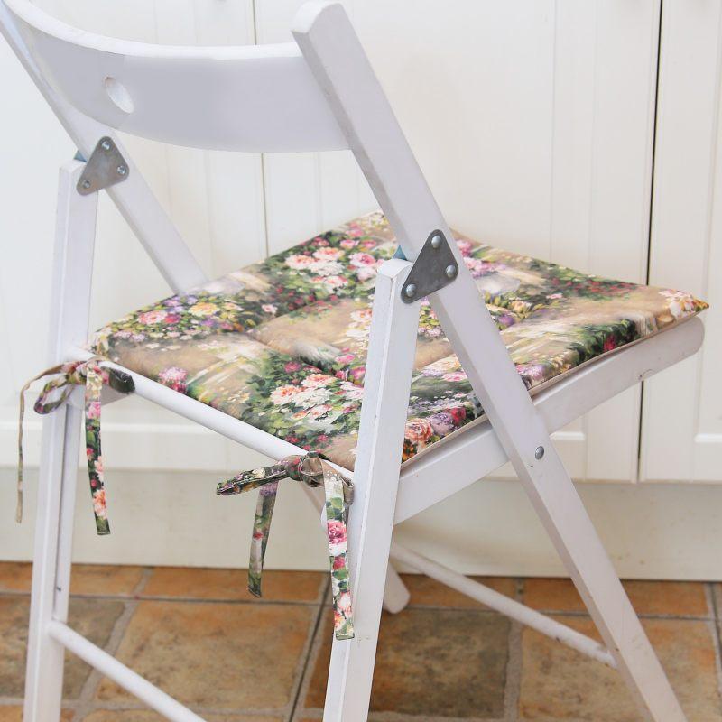 Сидушка на стул Цветы