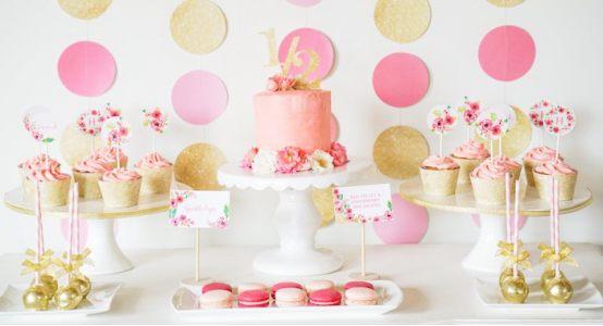 Золотой и розовый - идея для праздничной вечеринки!