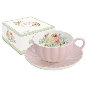 Чашка с блюдцем Роял JARDIN ROYALE розовая