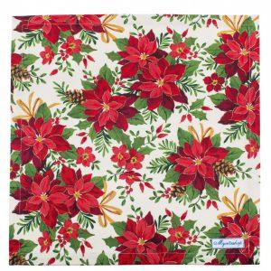 Салфетки текстильные Пуансетия красная