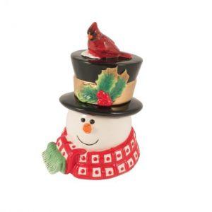 "Новогодняя шкатулка ""Снеговик в лесу"""
