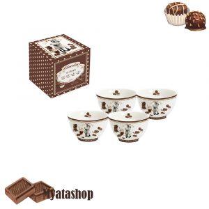Набор из 4-х салатников Vintage chocolate