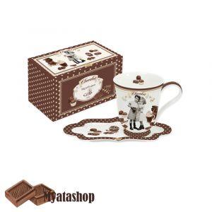 Чашка с блюдцем Vintage chocolate