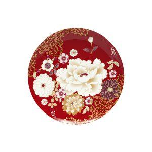 Тарелка Кимоно (красный) в подарочной упаковке
