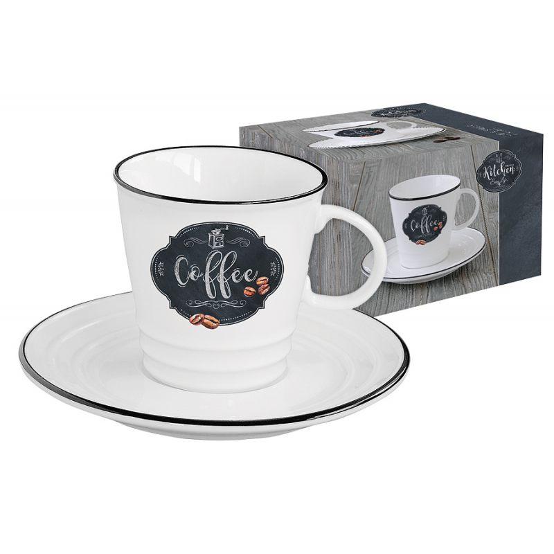 Чашка с блюдцем Kitchen basic (кофе) в подарочной упаковке