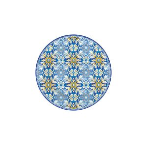 Тарелка десертная Майолика (голубая)