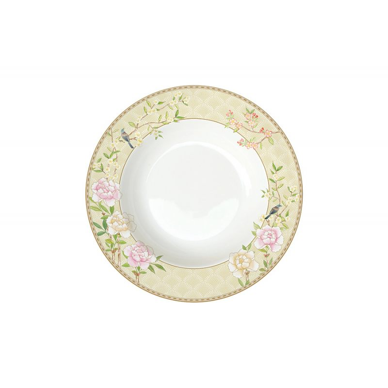Тарелка суповая Дворцовый парк (бежевая)