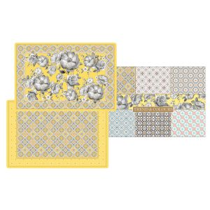 Набор из 4-х салфеток под горячее Цветовая палитра (жёлтая)