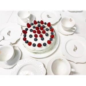 Блюдо для торта с лопаткой Maison chic
