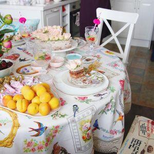 Блюдо для торта на ножке Уютный Дом-Лаванда