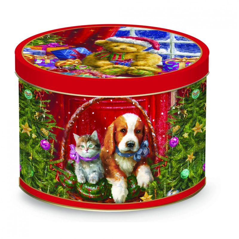 Фарфоровая кружка в жестяной коробке 2 Christmas time  350 мл