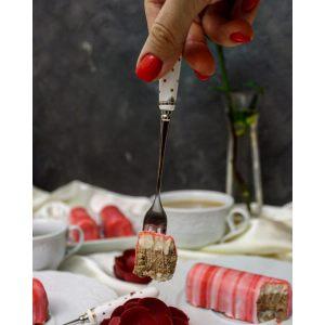 Набор из четырех вилок для торта Элеганс-Бабочки