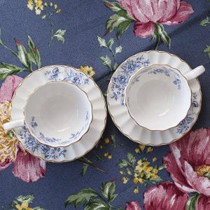 Набор кофейных пар Роял BLUE PEONIES (синие цветы)