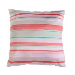 Подушка Полоски розовая 40х40см