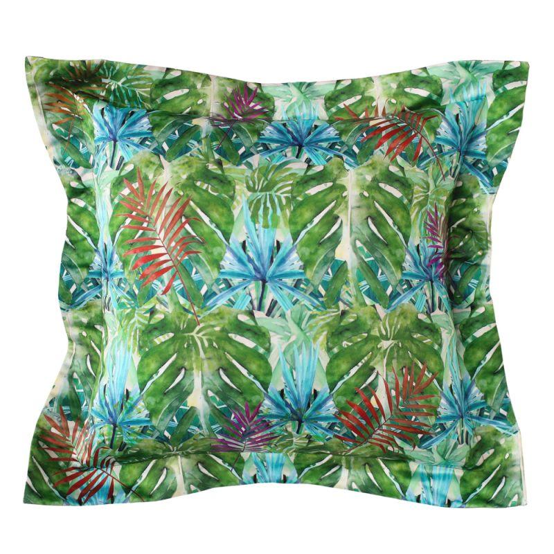 Подушка с ушками Тропики листья