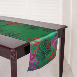 Дорожка на стол Тропики изумруд 45х240 см