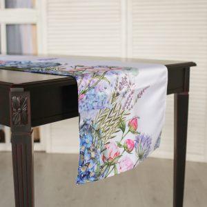 Дорожка на стол Ботаника гортензии 45х240 см