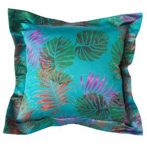 Подушка с ушками Тропики листья лазурь
