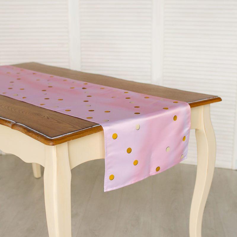 Дорожка на стол Розовый горох