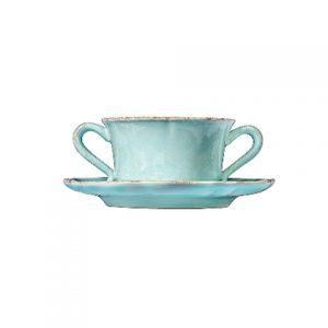 Чашка с блюдцем IMPRESSIONS голубая 400 мл