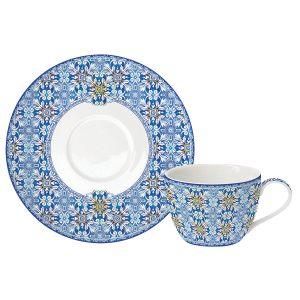 Чашка с блюдцем Майолика (голубая) 0,24 мл
