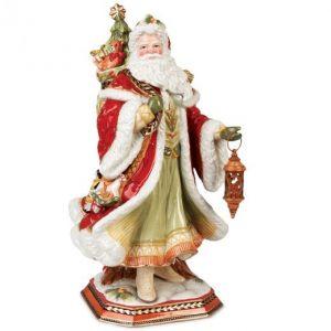 "Дед Мороз под елку ""Дамаск"" 47 см"