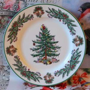 Тарелка обеденная Garland 26,5 см зеленая кайма