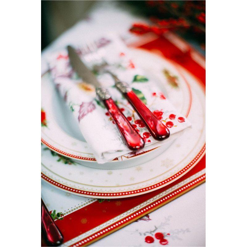 Текстильная салфетка Морозник в красном