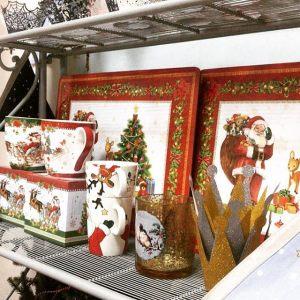 Кружка VINTAGE CHRISTMAS красная 350 мл