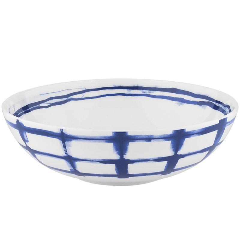 Суповая тарелка в клетку 18,5 см Indigo
