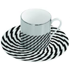 Зеркальная кофейная пара спираль Mirrored coffee