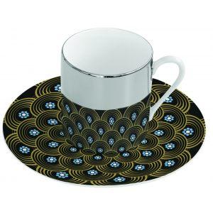 Зеркальная кофейная пара геометрия Mirrored coffe