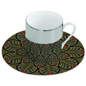 Зеркальная кофейная пара коричневая Mirrored coffe
