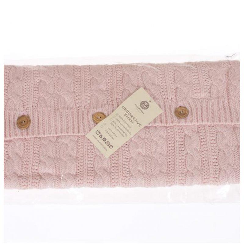 "Вязаная наволочка ""IMPERIO 36"", светло-бирюзовый, лаванда, розовый"