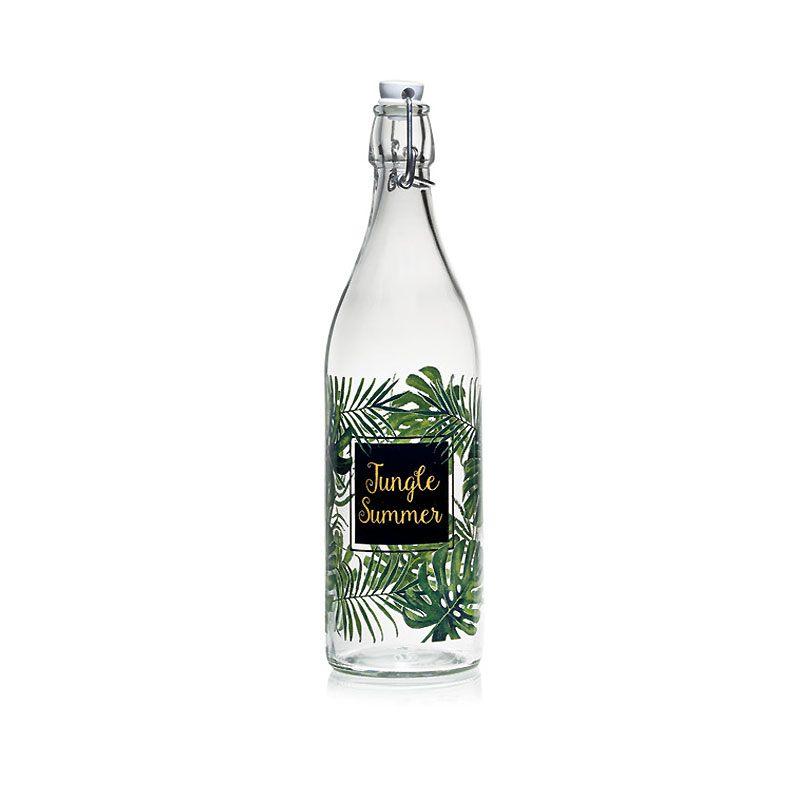"""Бутылка для напитков с закрепленной пробкой """"JUNGLE"""" 1 л."""