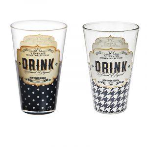 """Высокий стакан для напитков """"RETRO"""" 310 мл."""