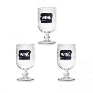 """Набор из 3 стаканов для вина """"LAVAGNA"""" 340 мл."""