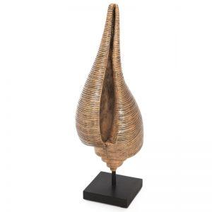 "Предмет декора РАКОВИНА (коричневая) ""LOFT ART"" 14x11,4x38 см."