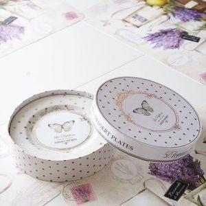 Набор десертные тарелки 4 шт 20 см Элеганс-бабочки