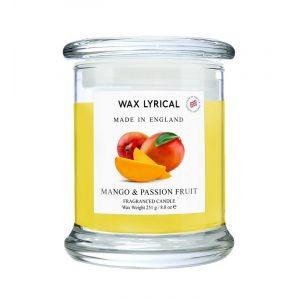 """Свеча ароматическая большая в стекле """"Манго и маракуйя"""" 760 г"""