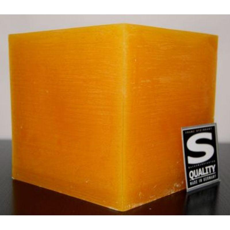 Свеча декоративная Куб желтая 941 г