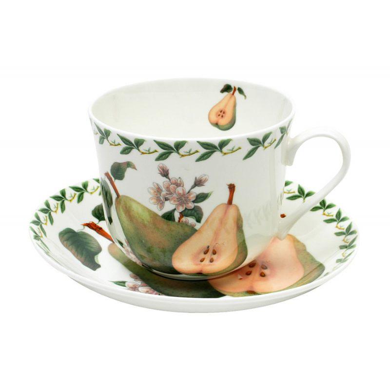 """Чашка с блюдцем """"Фруктовый сад"""" 480 мл"""