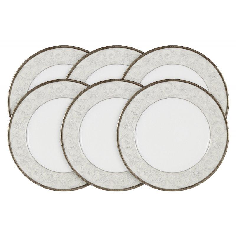 """Набор из 6 тарелок """"Ноктюрн"""" 23 см в подарочной упаковке"""