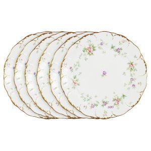 """Набор из 6 обеденных тарелок """"Воспоминание"""" 27 см"""