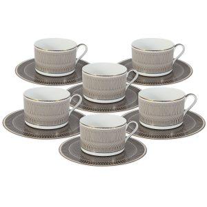 """Набор из 6 чайных пар """"Мокко"""""""